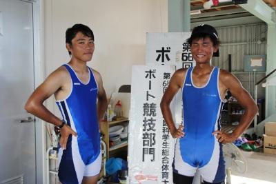 シングル3位藤本さん(左)、6位塚田さん(右)