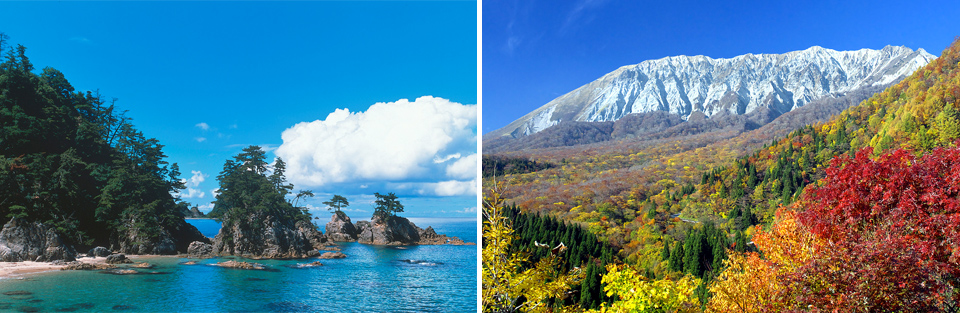 浦富海岸 秋の大山